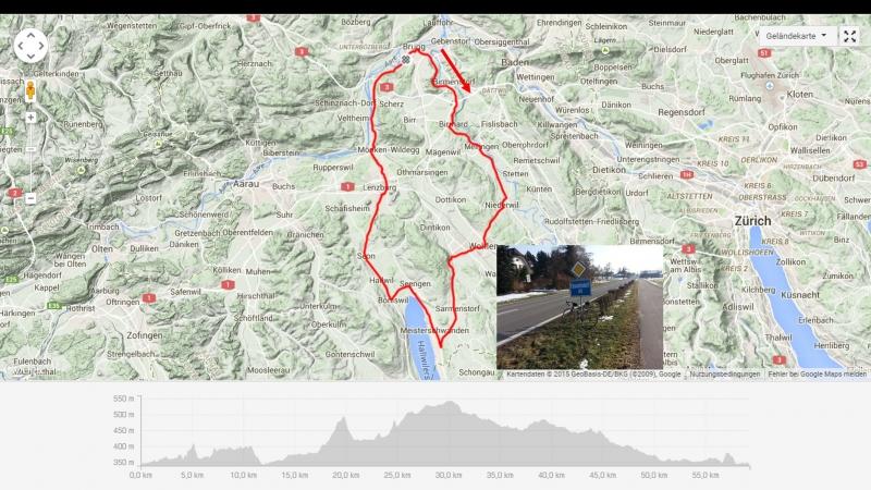 Rundfahrt: Brugg - Reusstal - Wohlen - Meisterschwanden - Seon - Lenzburg - Brugg