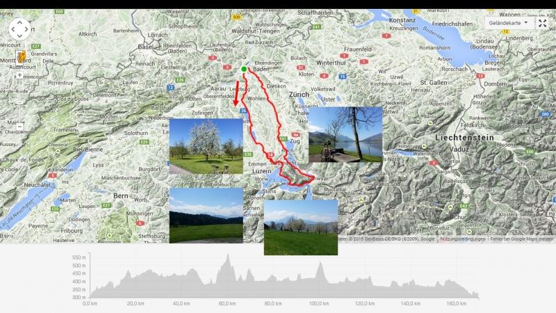 Brugg-Seetal-Eschenbach-Küsnacht an der Rigi-Weggis-Brunnen-Lauerzersee-Reusstal-Brugg