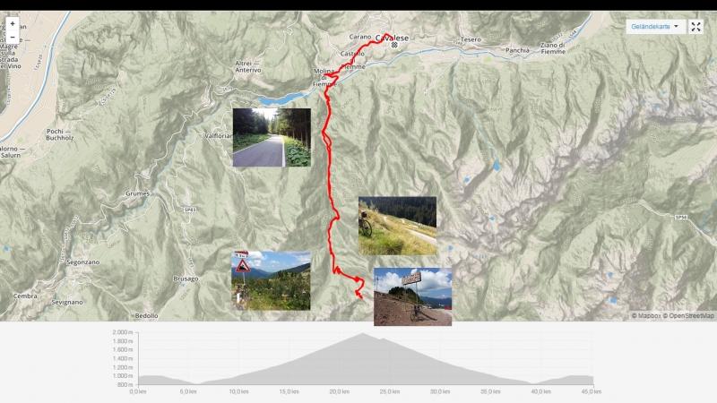 Fahrt zum Passo Manghen und wieder zurück