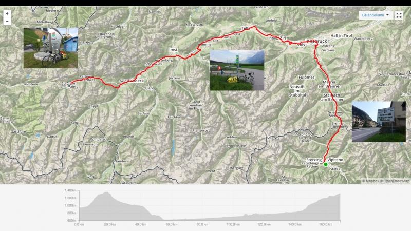 Sterzing - Brenner - Innsbruck - Landeck - St. Anton