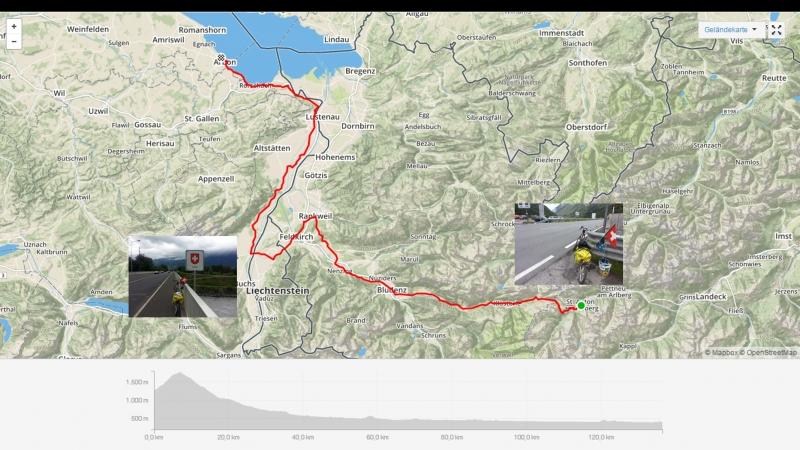 St. Anton - Arlbergpass - Bludenz - Feldkirch - Rorschach - Arbon