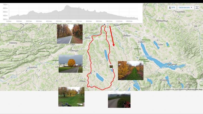 Brugg-Othmarsingen-Villmergen-Hochdorf-Rothenburg-Geiss-Mauensee-Suhr-Wildegg-Brugg