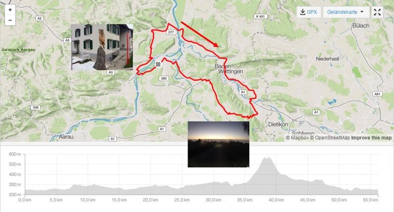 Rundfahrt über den Heitersberg