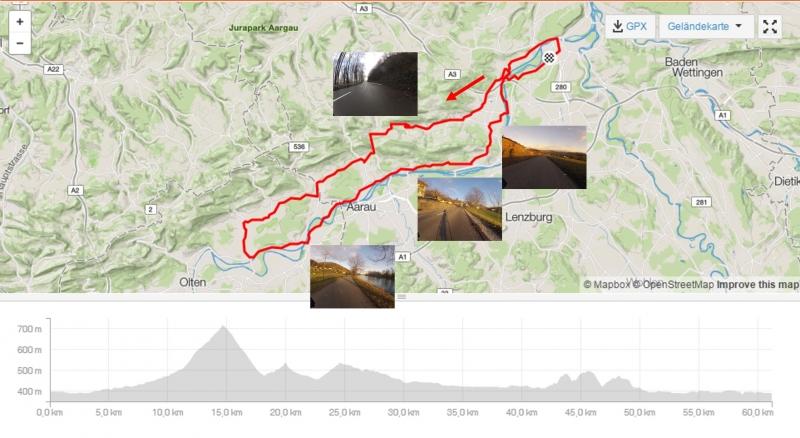 Rundfahrt über Staffelegg und im Aaretal