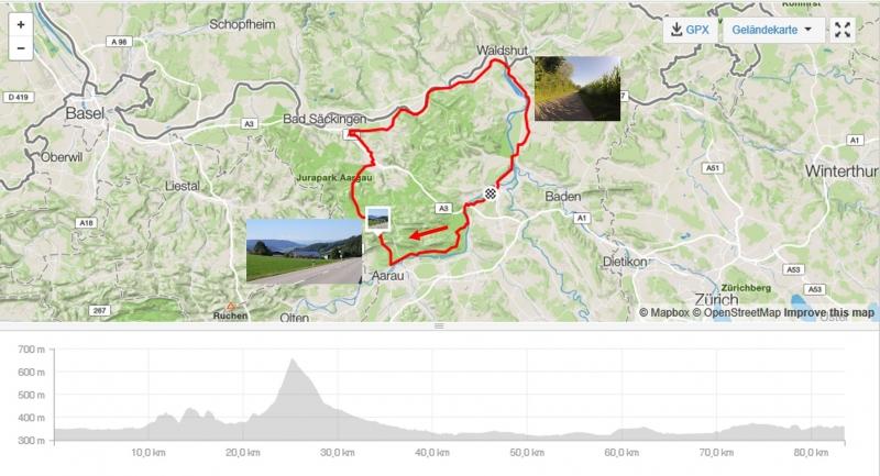 Rundfahrt über Benkerjoch dann Fricktal, Rhein und Aare
