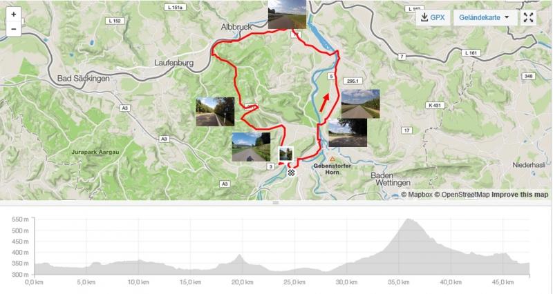 Rundfahrt im Aaretal - dem Rhein entlang und über die Bürensteig zurück