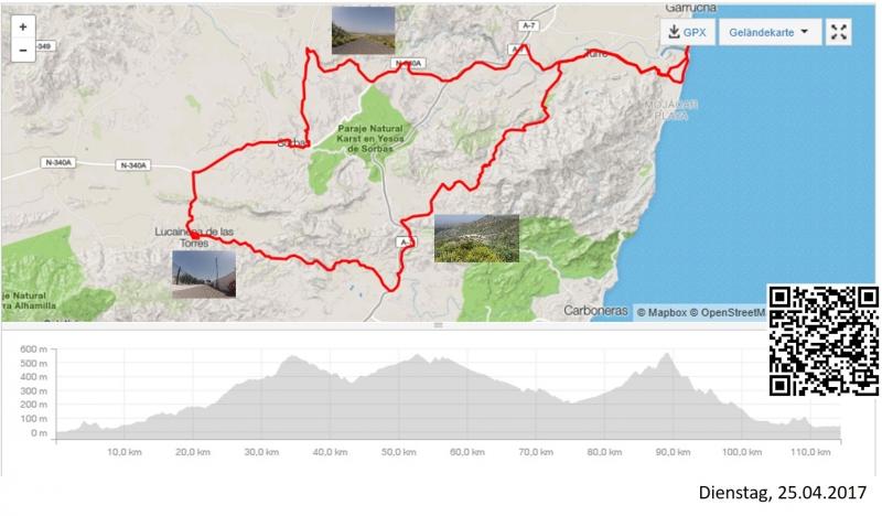 Cariatiz, Via Verde und Sierra Cabrera