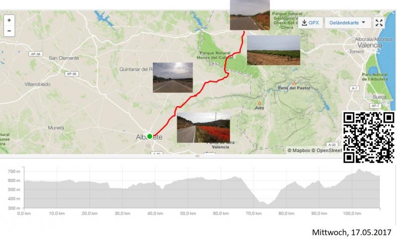 Albacete-Utiel, die Fahrt quer zu den Tälern