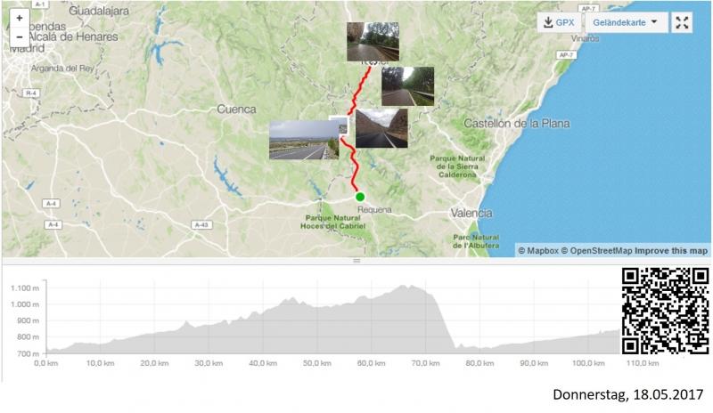Utiel-Teruel die schiefen Ebenen