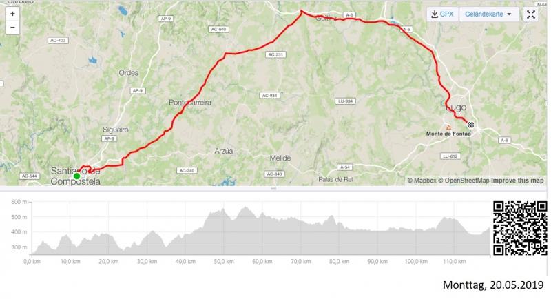 Von Santiago de Compostela nach Lugo (Galicien)