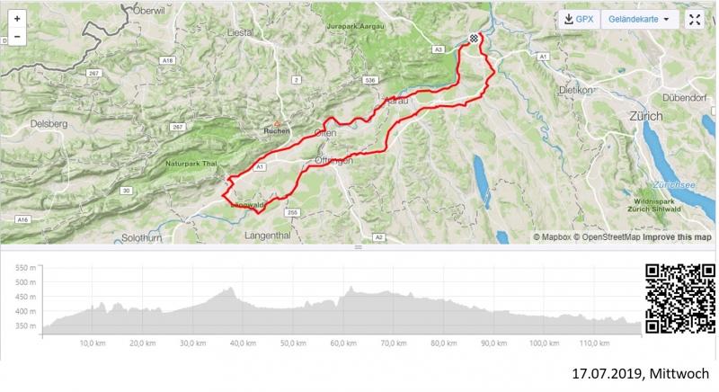 Alter Bernerweg und Teile der Radroute 8 (Aaretal)