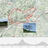 Track der Rundfahrt über Saalhöhe und Bözberg