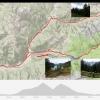 Track der Fahrt über Passo Valles und Passo San Pellegrino