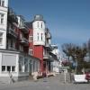 Bäderarchitektur, vom Zentrum in Zinnowitz in Richtung Norden.