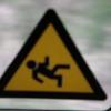 Hinweisschild beim Verlassen der Usedomer Bäderbahn