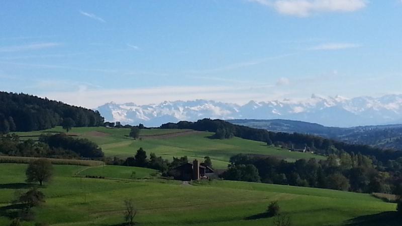 Verschneiter Alpenkamm