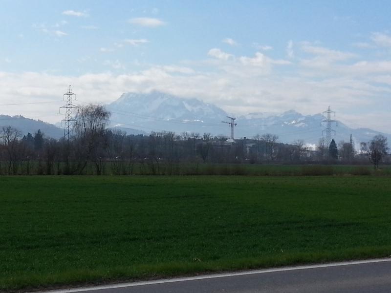 Blick an die Alpen