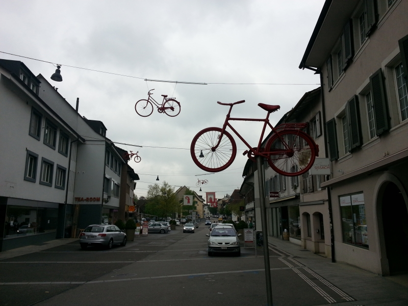 Sissach, Fahrräder als Dekoration