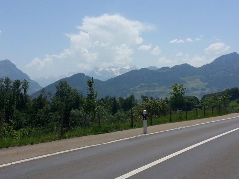 von unterwegs in die Berge