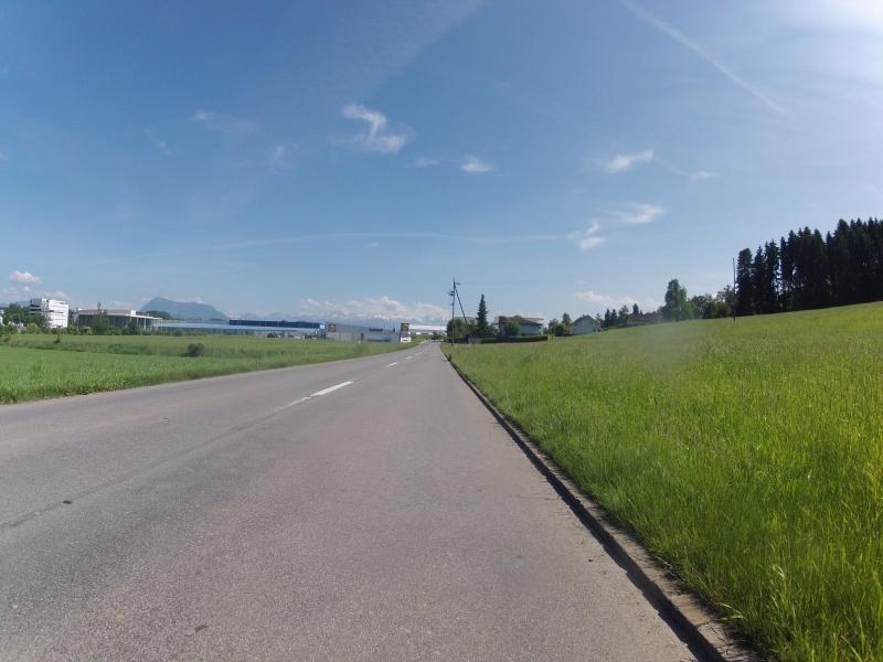 Den Alpenkamm vor Augen