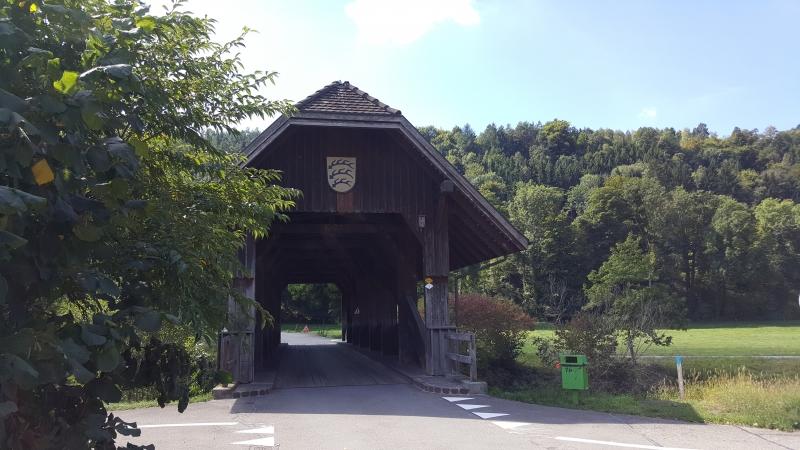Holzbrücke bei Glattfelden