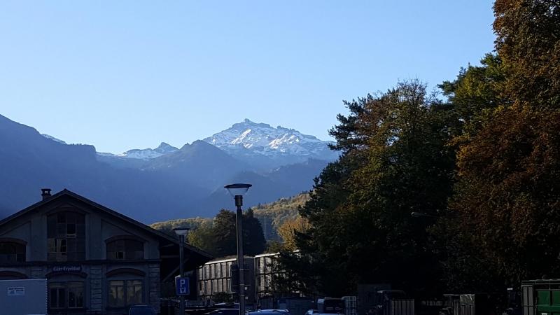 am Bahnhof Glarus
