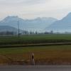 Tuggen, Blick auf die Alpen