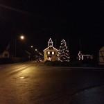 Weihnachtsdekoration in Hüttikon