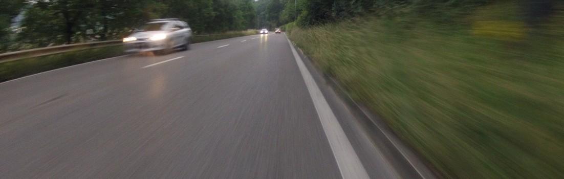 Auf schneller Fahrt