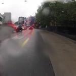 Rotlichter im Regen
