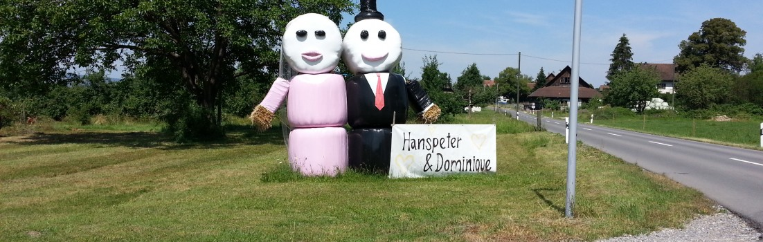 Heiratende Strohballen
