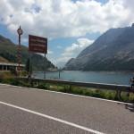 Rundfahrt über Passo Fedaia und Passo Valles