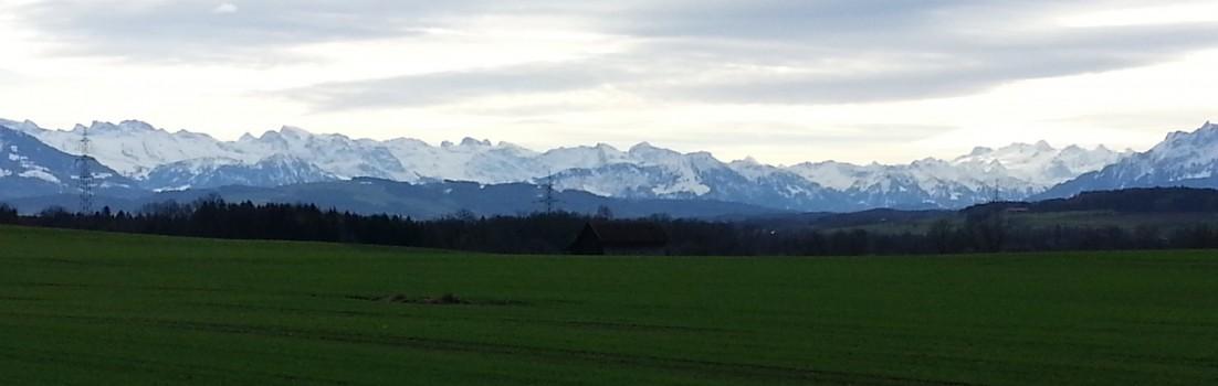 Föhnstimmung am Alpenrand