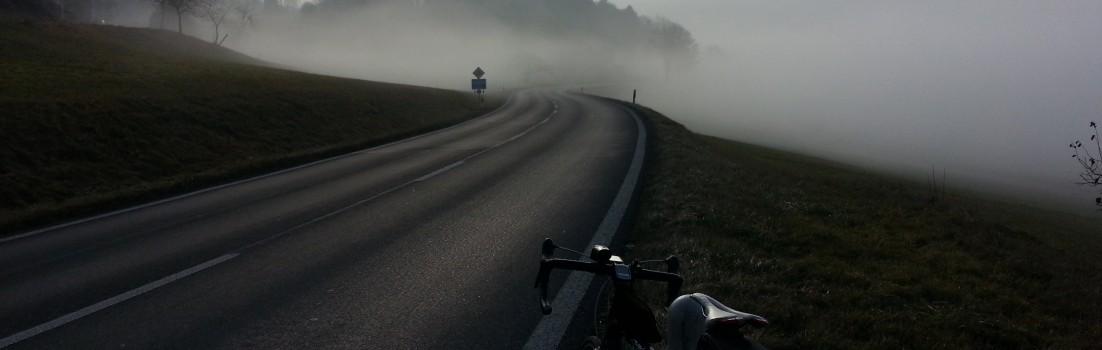 Kurze Zeit über dem Nebel