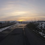Sonnenuntergang über dem Birrfeld