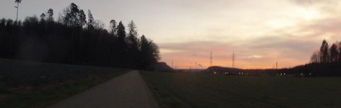 Abendrot über dem Aaretal