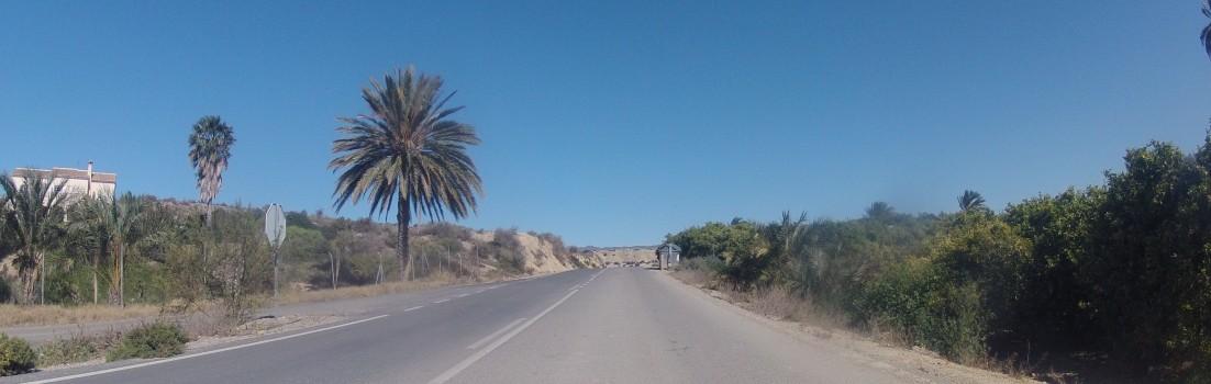 Weg von der Küste