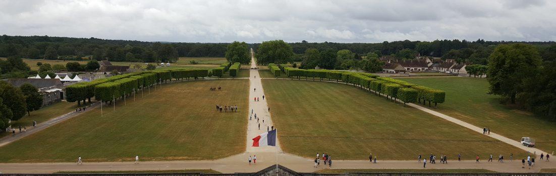 Blick vom Jagd-Schloss Chambord