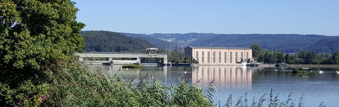 Kraftwerk am Klingnauer Stausee
