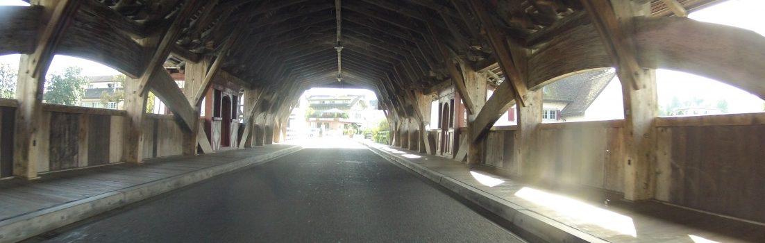 Holzbrücke in Bremgarten