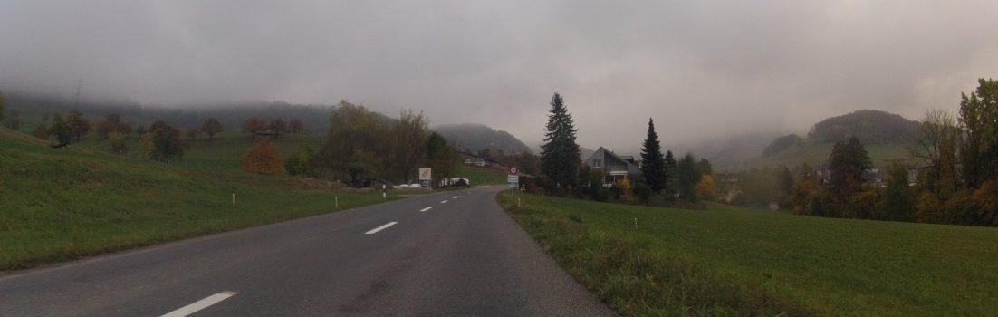 Nebel über dem Mettauertal