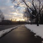 Dem Schneefall ausgewichen