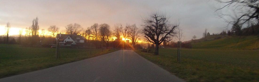 Sonnenuntergang über Wildegg