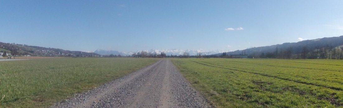 Dem Alpenkamm entgegen