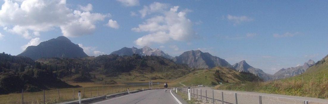 Abfahrt vom Hochtannbergpass