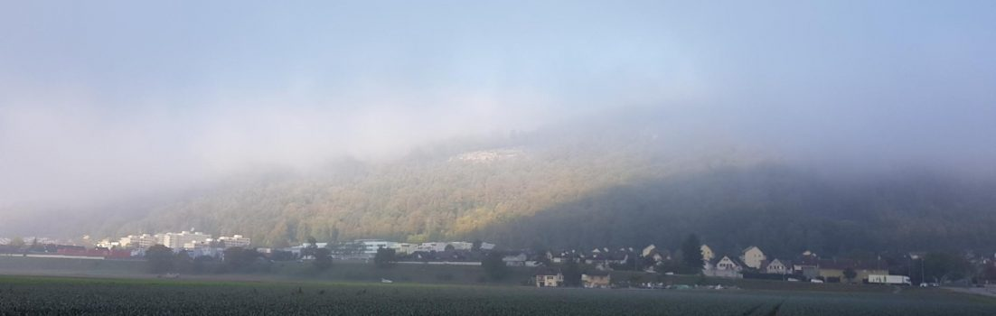 Bruggerberg im Nebel