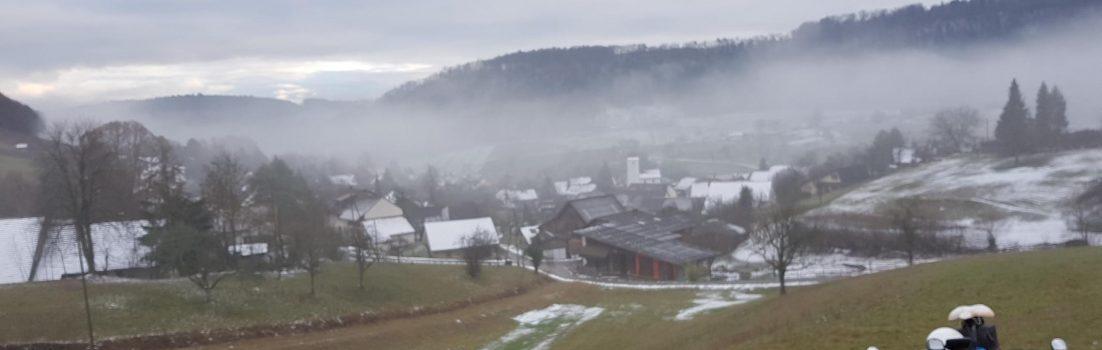 Mönthal unter dem Nebel