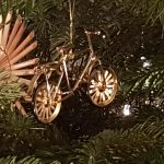 Rennrad am Christbaum