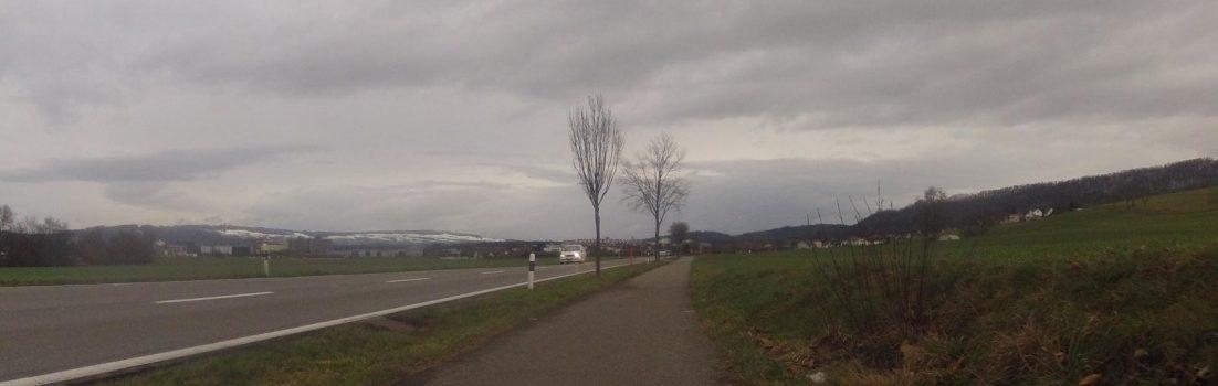 Radweg zwischen Scherz und Lupfig
