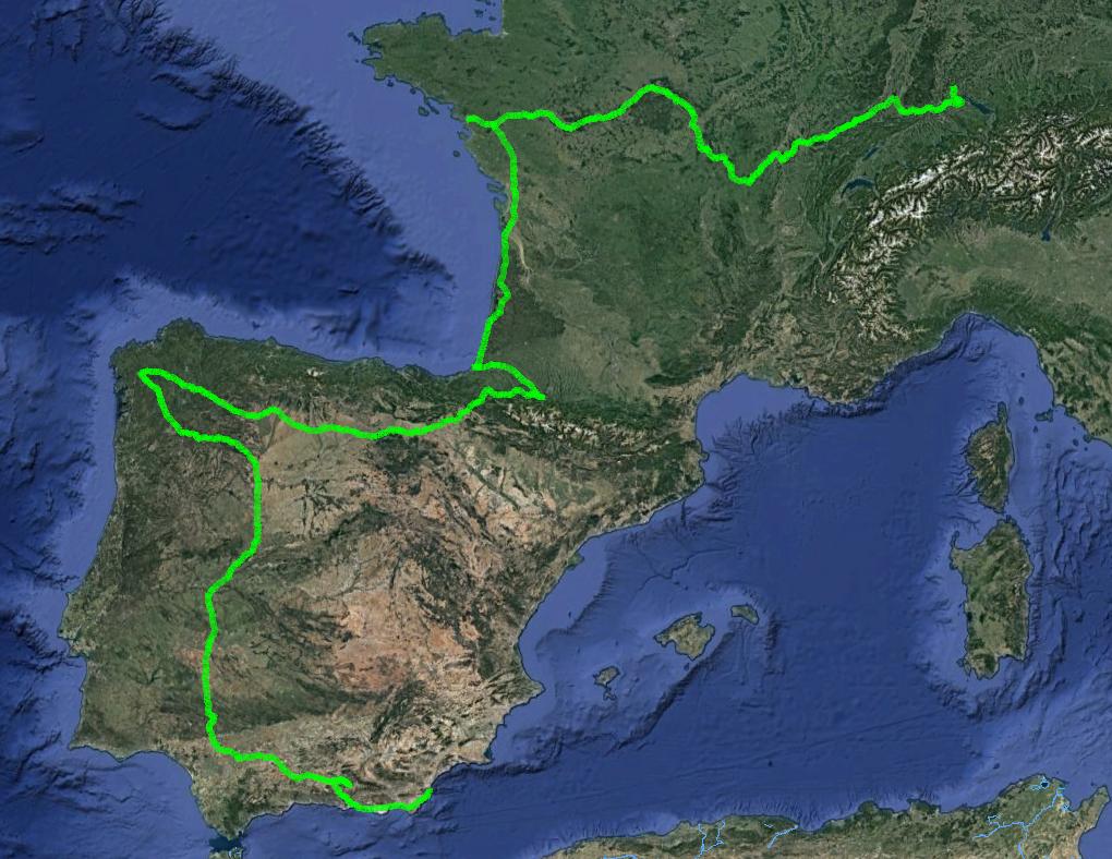 Spanien-Frankreich-Schweiz